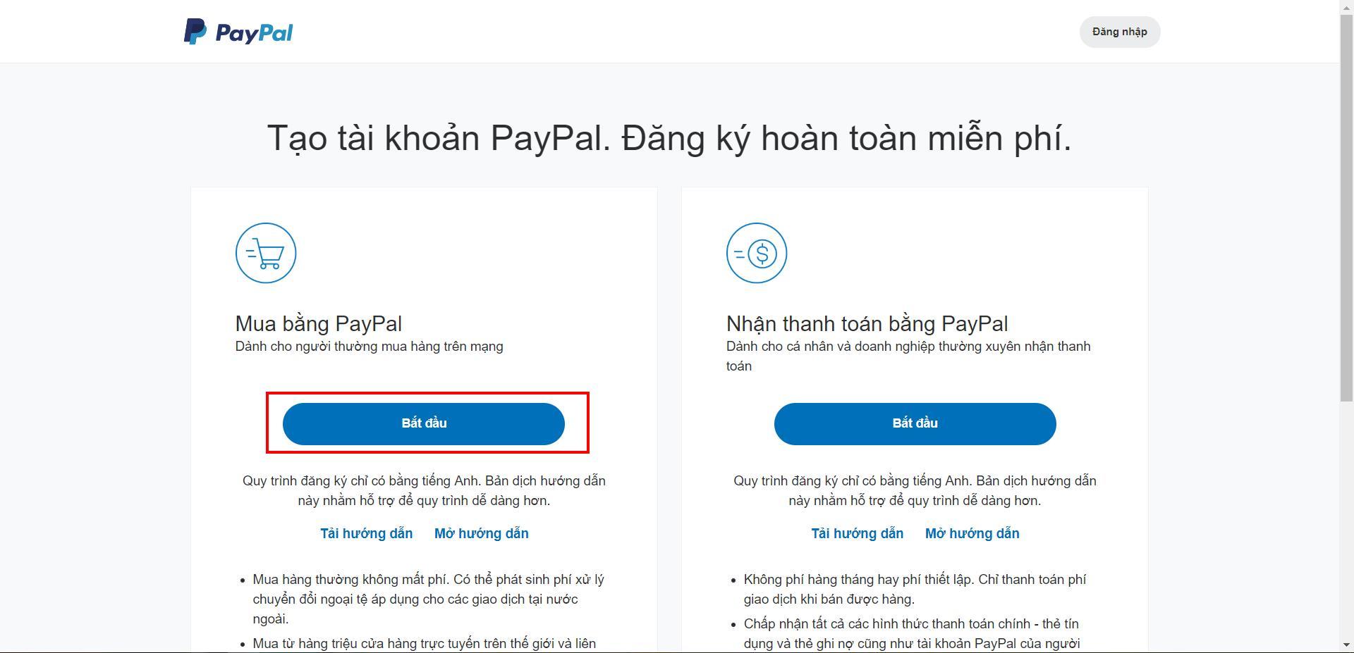 Kết quả hình ảnh cho Quá trình mua hàng sử dụng PayPal